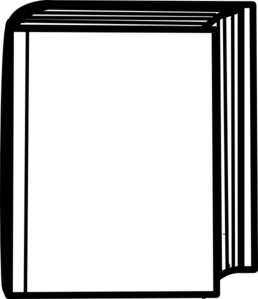 Closed Book Clip Art Black And White - Free ...