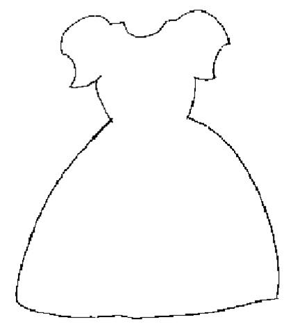 Платье кукле раскраска