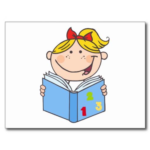 Cartoon Girl Reading Book - ClipArt Best