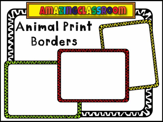 Zebra Print Page Border 29 Free Zebra Print Border