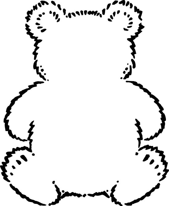 Teddy bear outline printable clipart best for Name the bear template