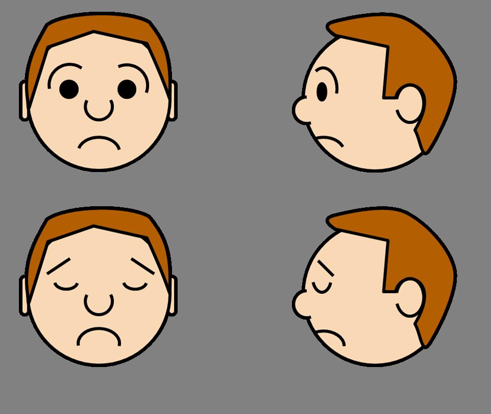 Cartoon Characters Faces : Sad face cartoon character clipart best