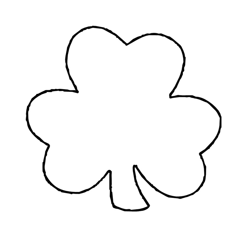 This is an image of Clean Printable Shamrock Templates