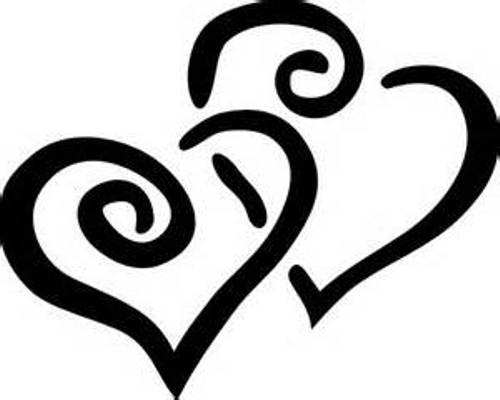 Free Black And White Clipart, Heart - ClipArt Best