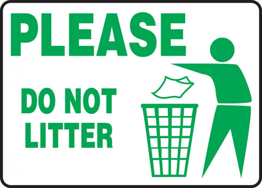 Do Not Litter Signs Clipart Best