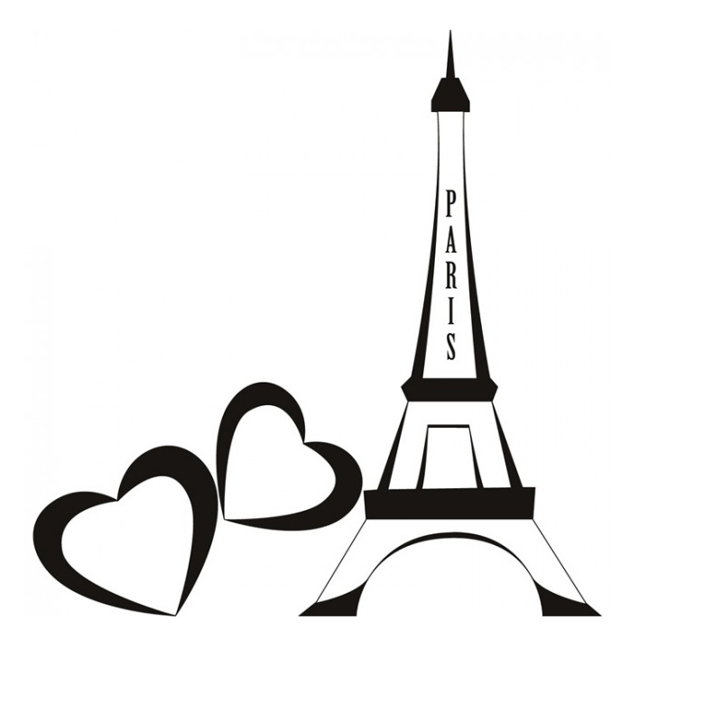 Simple eiffel tower clipart best for Decor outline
