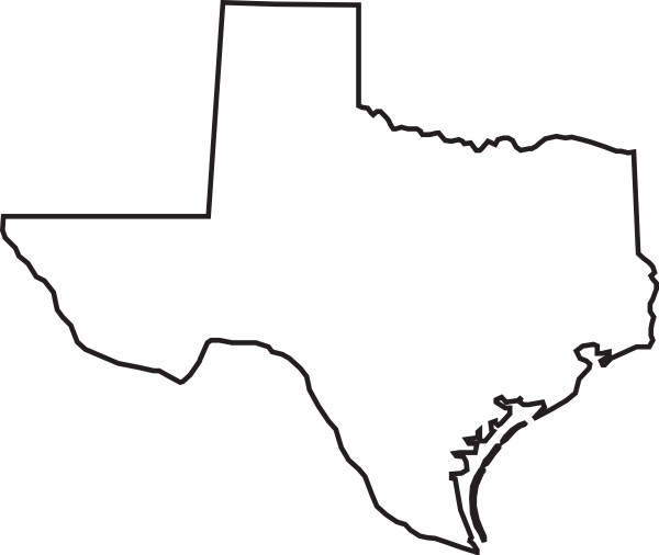 State Of Texas Map Outline.State Of Texas Outline Clipart Best