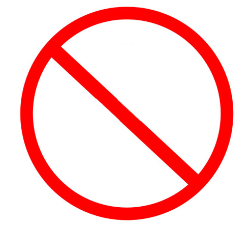 No Symbol Circle With Slash Prohibition Sign Photo Free Download ...