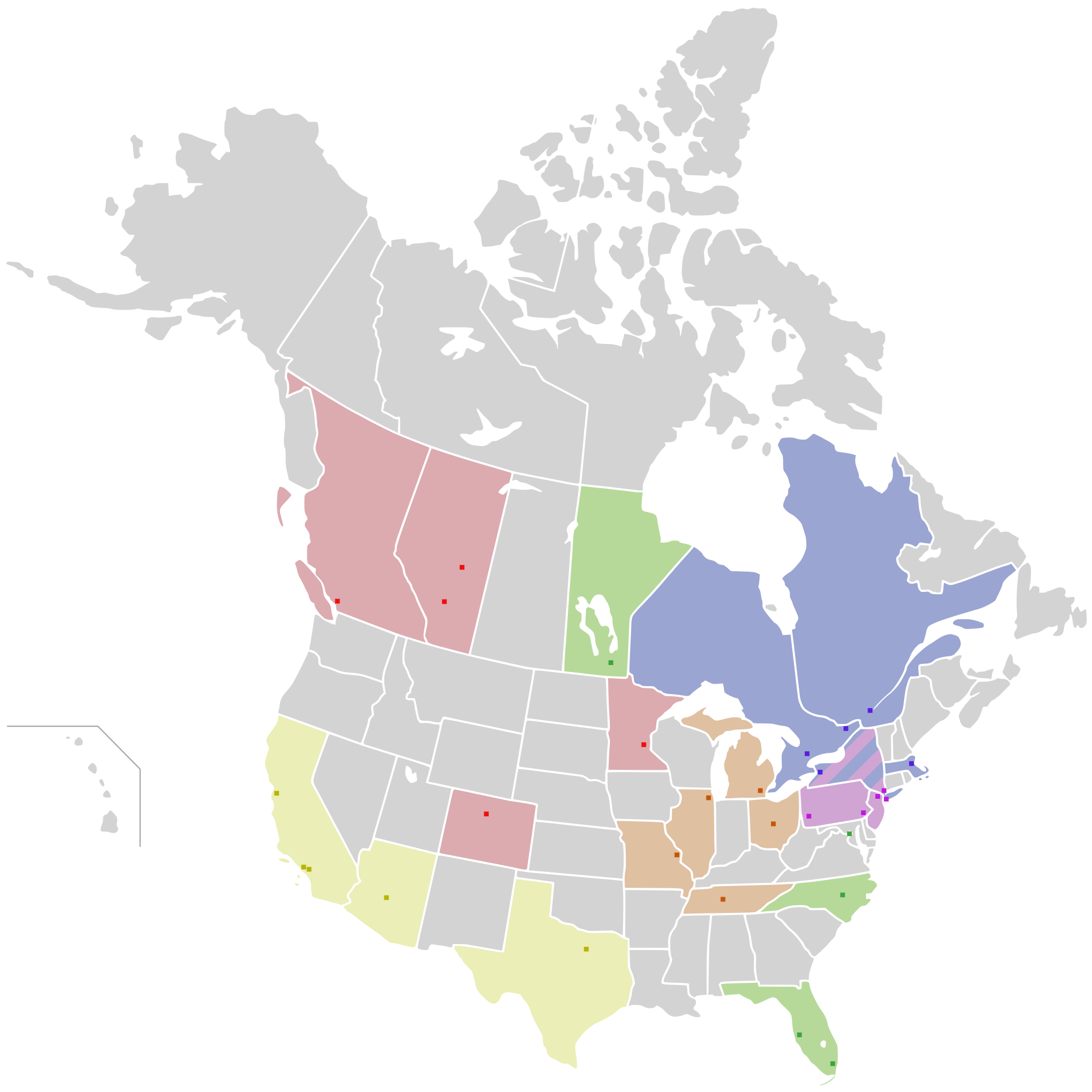 Maps Update 830720 Map Us and Canada USA States and Canada – States in Canada Map