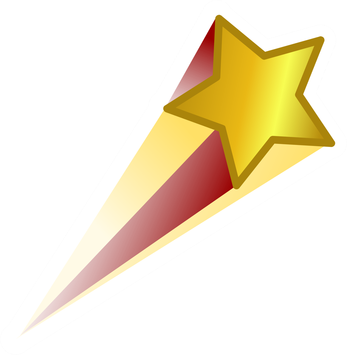Shooting star transparent clipart