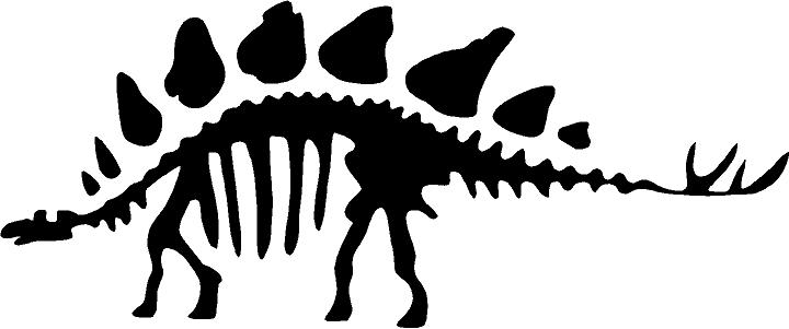 dinosaur stegosaurus outline clipart best