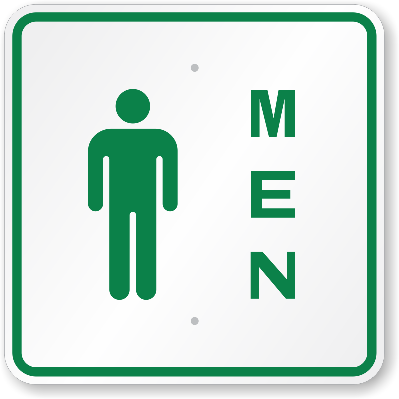 Men Bathroom Signs   Men with Graphic and Braille Restroom Signs. Mens And Womens Bathroom Signs   ClipArt Best