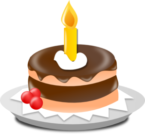 Birthday Cake And Candle clip art - vector clip art online ...