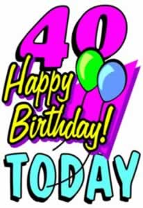 40th Birthday Images - ClipArt Best