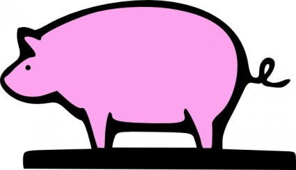 Farming Pig Animal clip art Vector clip art - Free vector for free ...