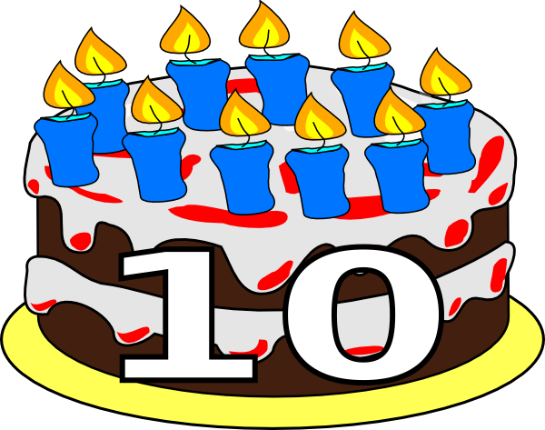 10th Birthday Cake Dom clip art - vector clip art online, royalty ...