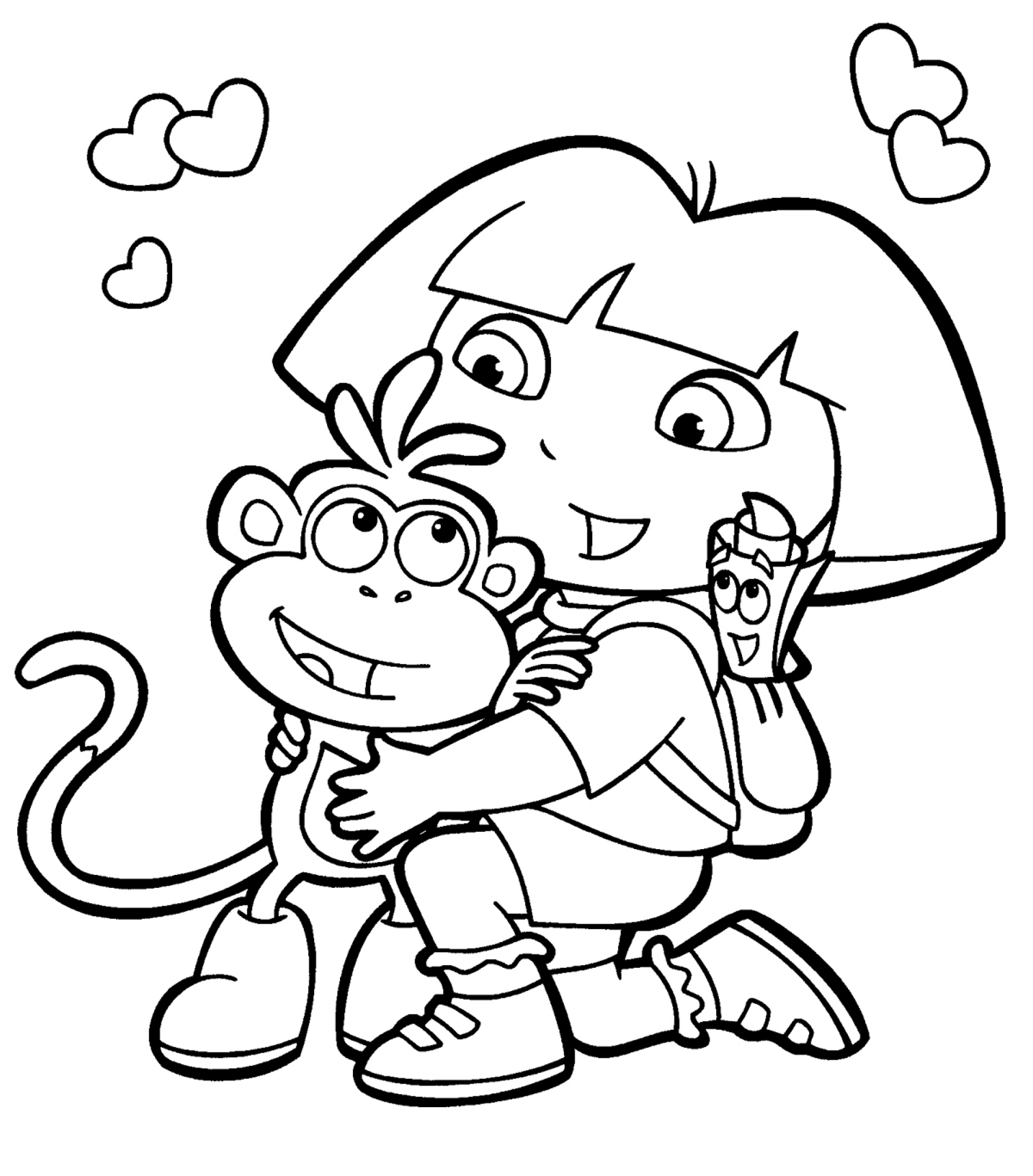 free download dora coloring pages - photo#3