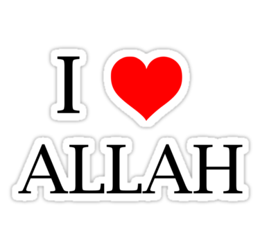 """LOVE ALLAH"""" Stickers by pharmacist89 