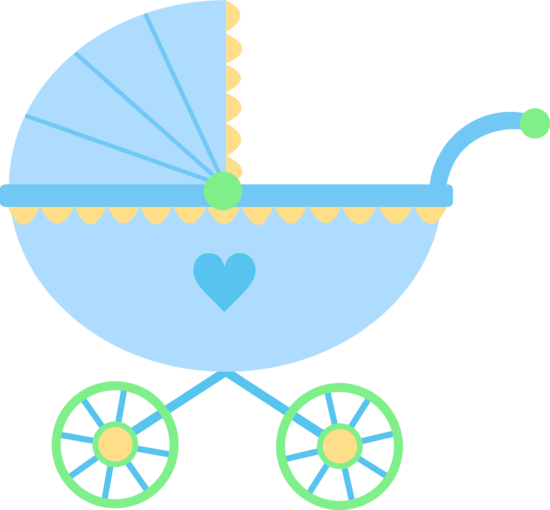 Cute Blue Baby Carriage Free Clip Art Baby Boy Carriage Clip ...