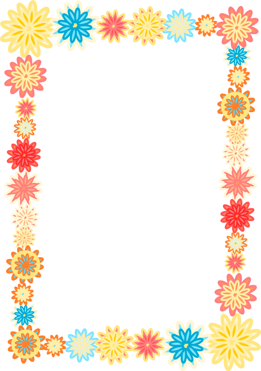 Simple Flower Frame - ClipArt Best