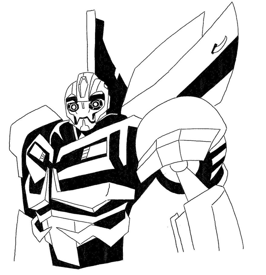 Line Drawing Transformers Bumble Bee