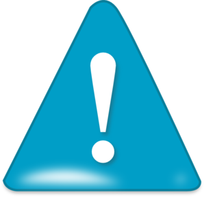 Attention In Blue clip art - vector clip art online, royalty free ...
