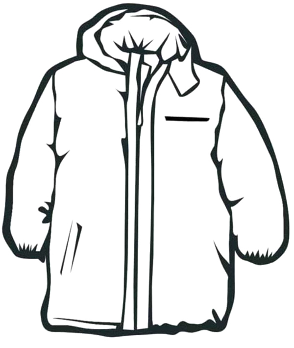 winter clothes coloring pages activities - photo#1