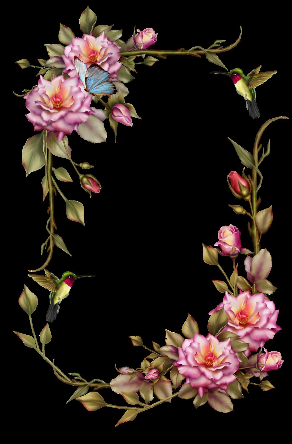 Wonderful frame flower vector images