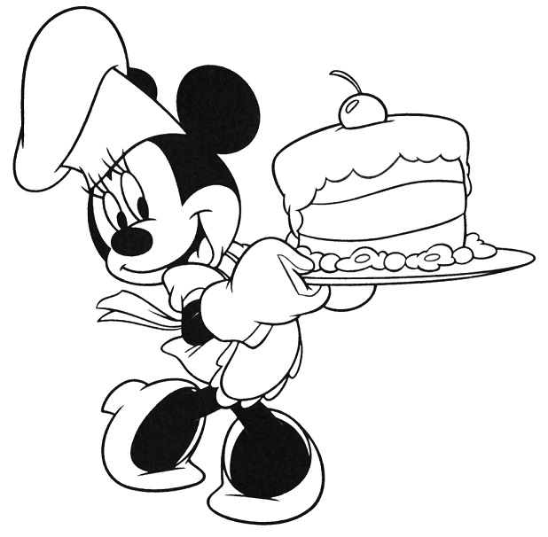 disney mini coloring pages birthday cake | HelloColoring.com ...
