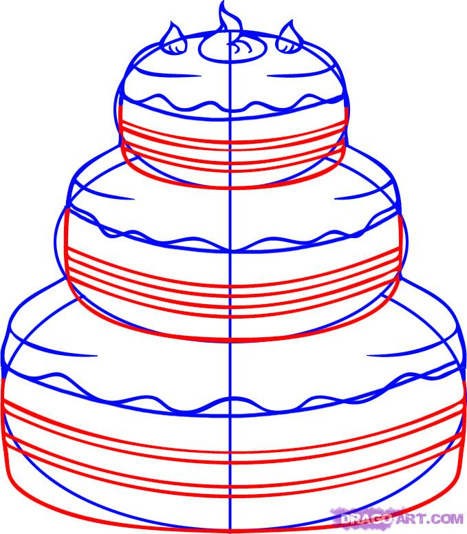 How To Draw Cake Images : Drawing Cakes - ClipArt Best