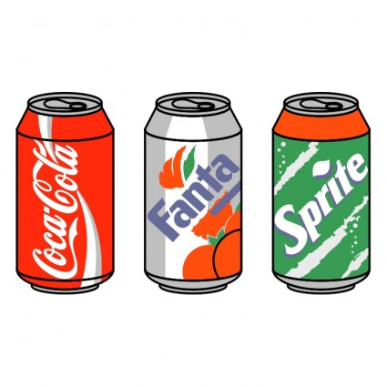 Cola Can Cartoon on Aluminum Can Clip Art