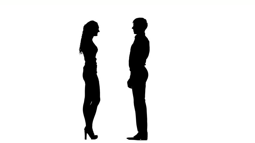 Silhouette Of A Man And Woman - ClipArt Best