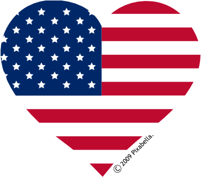 American flag in heart clipart best for Heart american flag coloring page