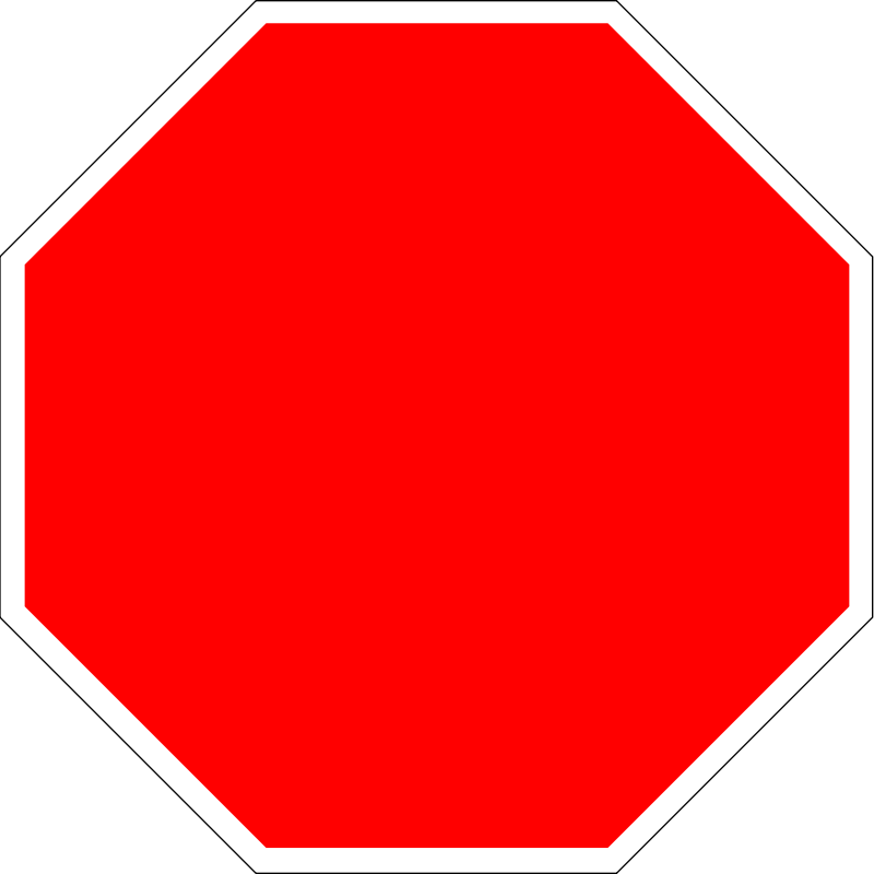 Blank stop signs clipart best for Stop sign templates