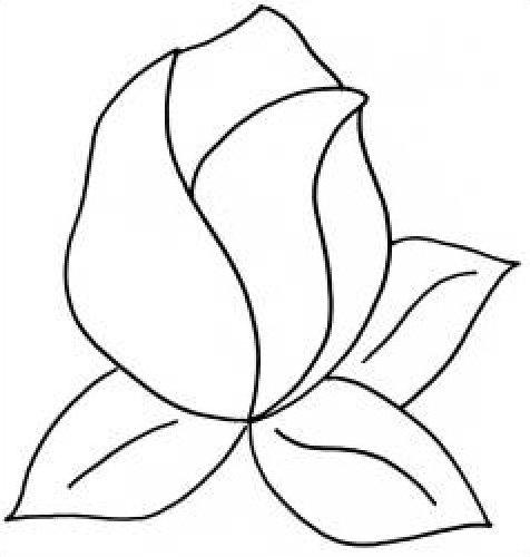 Quilt Pattern Stencil Rose Bud 7 inch - ClipArt Best - ClipArt Best