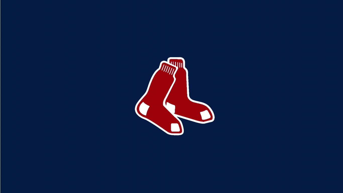Boston Red Sox Secondary Logo 2009 Red B With Blue Outline