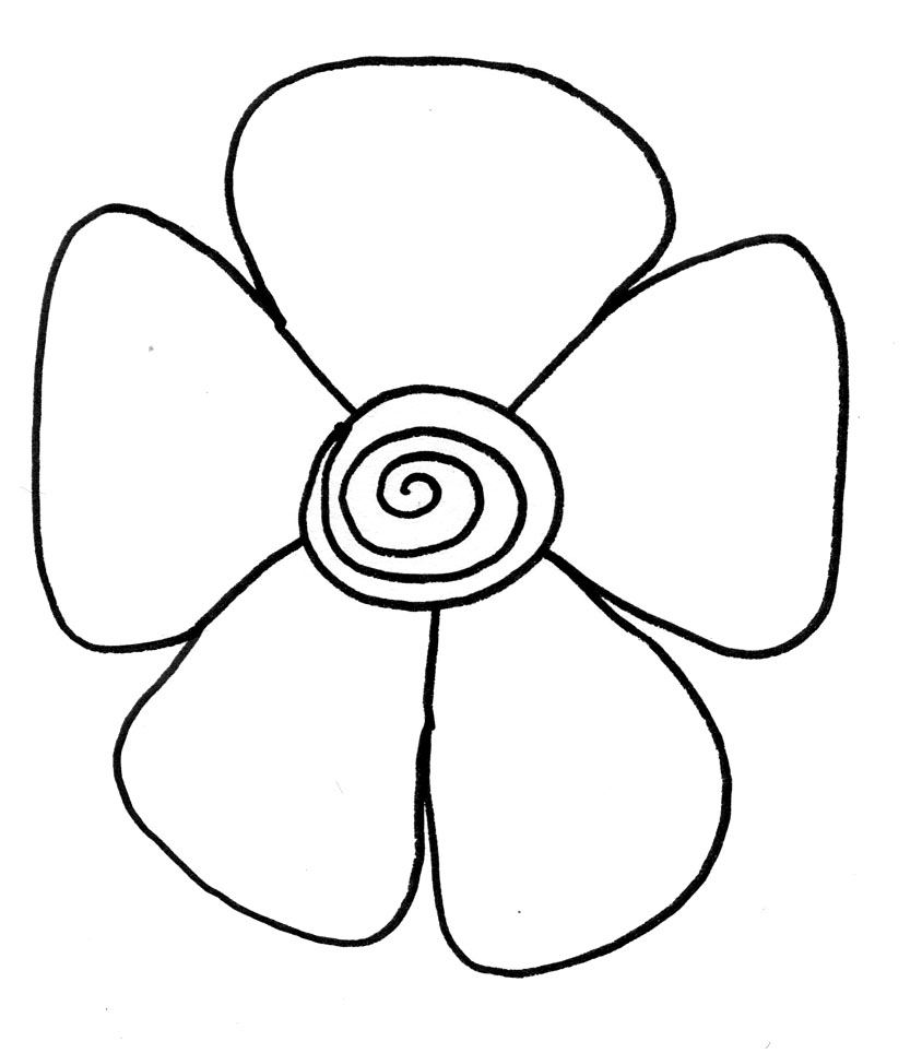 Easy Rose Drawing For Kids