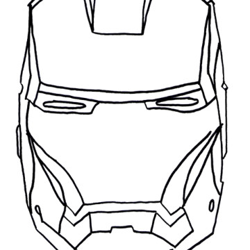 iron man coloring pages iron man face coloring page kids - Iron Man Patriot Coloring Pages