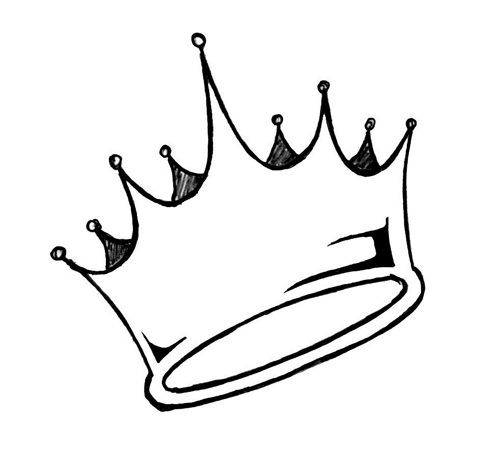 Line Art Crown : King crown line drawing clipart best