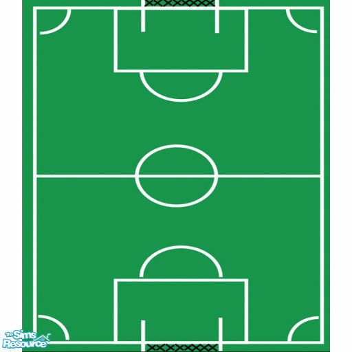 SSilver's Soccer Field Play Mat