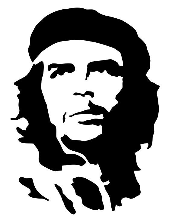 Che Guevara Smoking Stencil - ClipArt Best