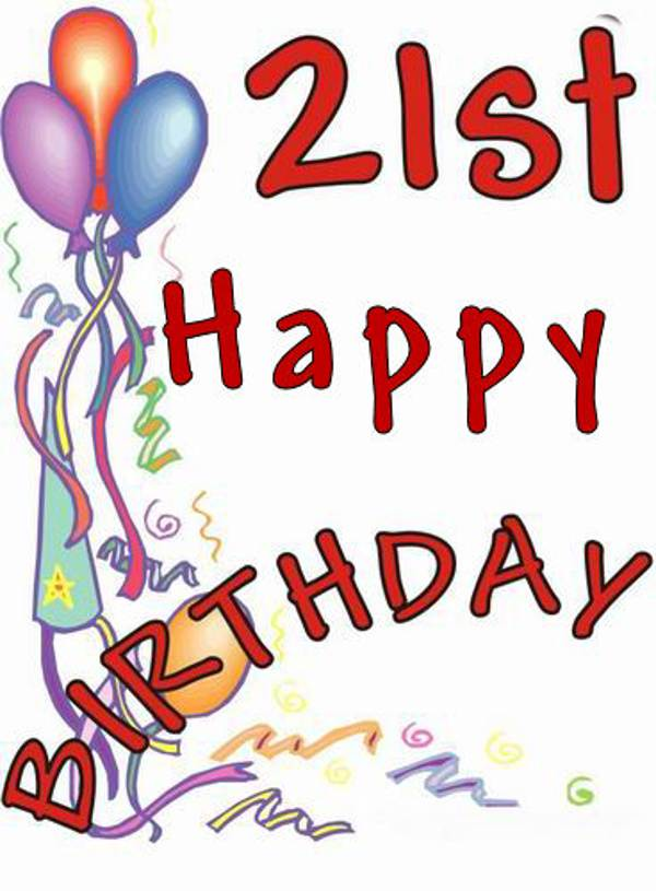 Happy 21st Birthday Images - ClipArt Best