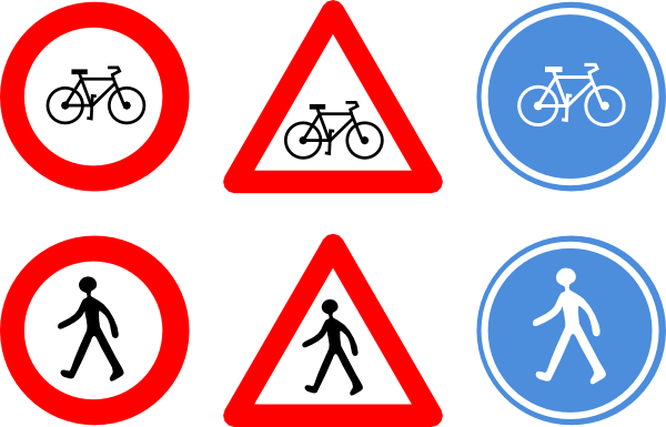Bicycle Traffic Signs Clip art - Symbols - Download vector ...
