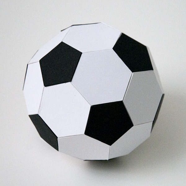 how to make a paper soccer ball 3d