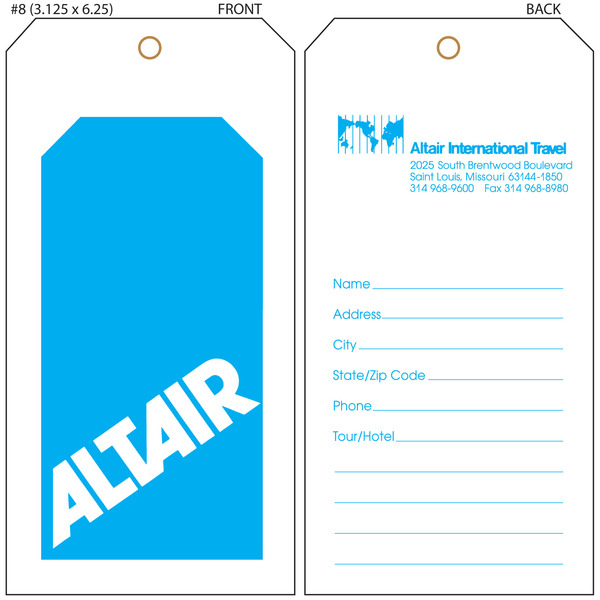 Luggage Tag Template Free - ClipArt Best