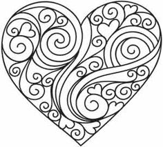 cool heart coloring pages - cool heart designs to draw easy clipart best