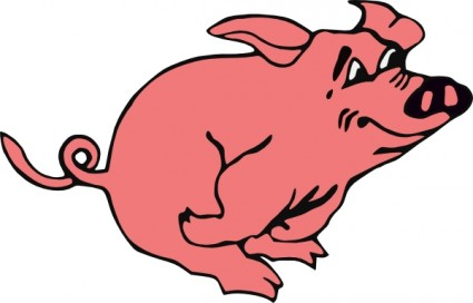 Running Pig clip art Vector clip art - Free vector for free download