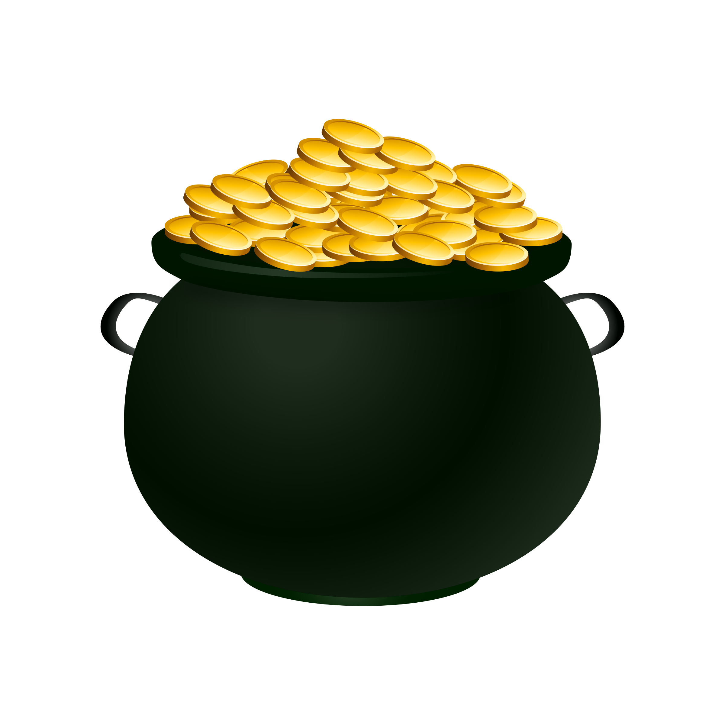 Green Pot Of Gold Clipart Image Pot Of Gold - Cl...