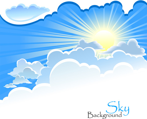 Blue sky background vector free vector download (44,926 Free ...