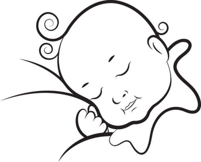 BABIES SLEEPING - BLACK AND WHITE CLIP ART - ClipArt Best